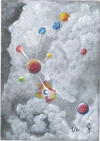 Kugel, Planet, Nebel, Universum
