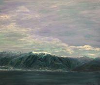 Landschaft malerei, Gambarogno, Tessin, Malerei