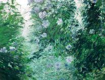 Tessin, Landschaft malerei, Kamelien, Ölmalerei