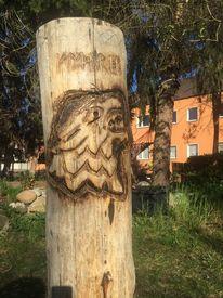 Fenriswolf, Holz, Stanm, Baumstamm