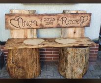 Rustikal, Holz, Bank, Möbel