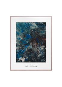 Design, Malerei abstrakt, Weiß, Ölmalerei