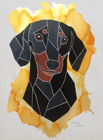 Hundeportrait, Malen, Auftragsmalerei, Andenken