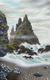 Meer, Acrylmalerei, Brecher, Welle