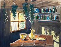 Hexenhaus, Wasserfarbe, Goldenes geschirr, Illustrationen