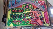 Portrait, Acrylmalerei, Farben, Modern art