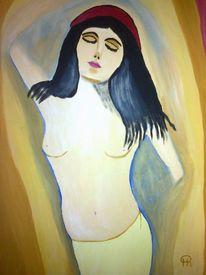 Akt, Abstrakte malerei, Frau, Malerei