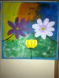 Abstrakte malerei, Blumen, Malerei, Sonnenschein