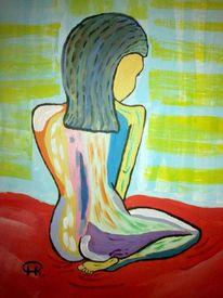Abstrakte malerei, Malerei, Akt,
