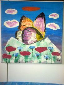 Tiere, Landschaft, Blumen, Schmetterling