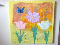 Abstrakte malerei, Fantasie, Blumen, Natur
