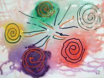 Farben, Abstrakte malerei, Fantasie, Malerei