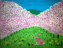 Hase, Abstrakte malerei, Tiere, Landschaft