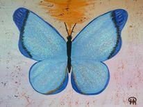Abstrakte malerei, Schmetterling, Tiere, Malerei