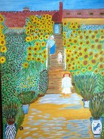 Blumen, Landschaft, Pflanzen, Malerei