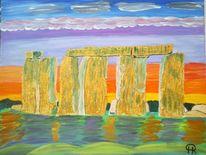 Abstrakte malerei, Landschaft, Stein, Geschichte