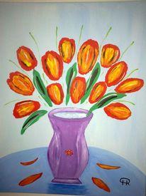 Abstrakte malerei, Stillleben, Blumen, Malerei