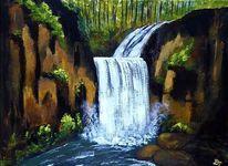 Sommer, Landschaft, Natur, Acrylmalerei