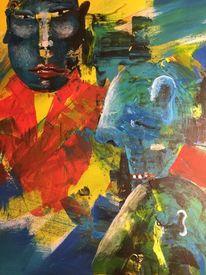 Ausdruck, Menschen, Beziehung, Malerei