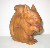Eichhörnchen, Holz, Schnitzkunst, Plastik
