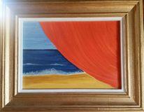 Vorhang, Meer, Strand, Malerei