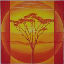 Horizont, Kugel, Sonnenuntergang, Baum