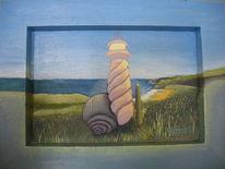 Leuchtturm, Schnecke, Perspektive, Malerei