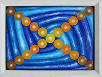 Abstrakt, Spirale, Blau, Braun
