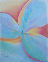 Blätter, Fließkraft, Übergang, Zeichnungen