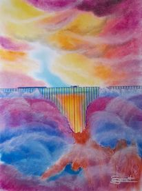Farbwolken, Viadukt, Lava, Krater