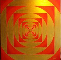 Gold, Quadrat, Kreis, Malerei