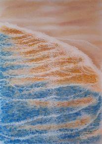 Sand, Wasser, Strand, Welle