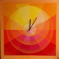 Kreis, Segment, Rot, Gelb
