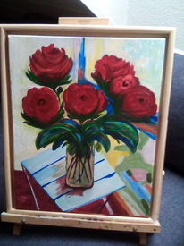 Mischtechnik, Acrylmalerei, Pflanzen, Malerei