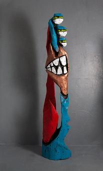 Skulptur, Abstrakt, Holzskulptur, Schnitzkunst