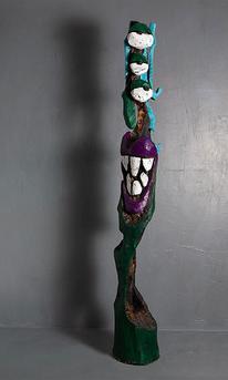 Schnitzkunst, Holzskulptur, Abstrakt, Skulptur
