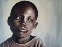 Junge, Schwarz, Afrika, Äthiopien
