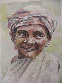 Aquarellmalerei, Indien, Aquarell,