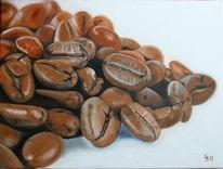 Bohne, Braun, Kaffee, Malerei