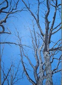 Wald, Baum, Winter, Malerei