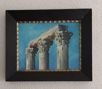 Säule, Griechenland, Eis, Tempel