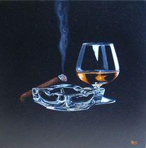 Rauch, Cognac, Zigarre, Malerei