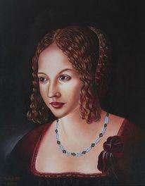 Licht, Ölmalerei, Portrait, Schatten