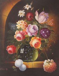 Blumen, Tisch, Klassisch, Rose