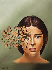 Trauer, Ölmalerei, Tränen, Portrait