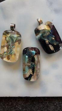 Flameworking glass beads, Ohrringe aus muranoglas, Halsketten aus muranoglas, Silber mit muranoglas