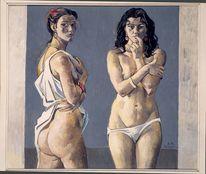 Malerei, Figurativ, Statur, Ölmalerei