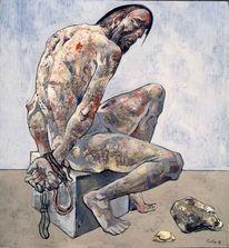Menschen, Vergessen, Ölmalerei, Portrait