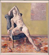 Malerei, Akt, Koller, Menschen