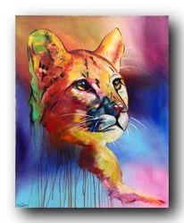Malerei, Abstrakt, Modern, Cougar